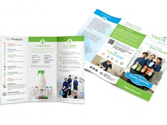 Aspen Clean Trifold Brochure