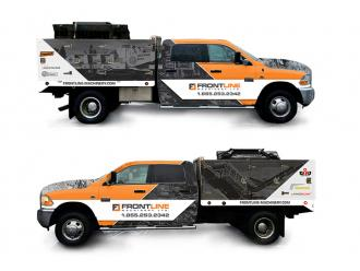 Frontline Machinery Truck Wrap