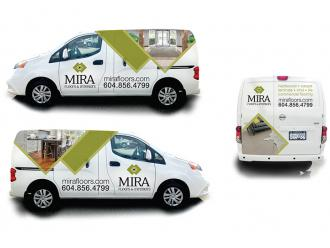 Mira Floors Van Wrap