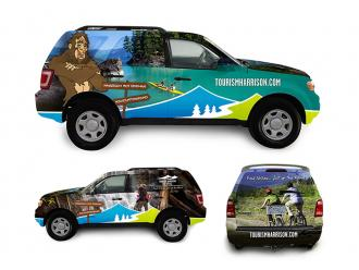 Tourism Harrison Vehicle Wrap