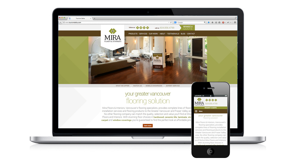 Website Design - Mira Floors